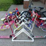 Стоянка для велосипедов из труб ПВХ