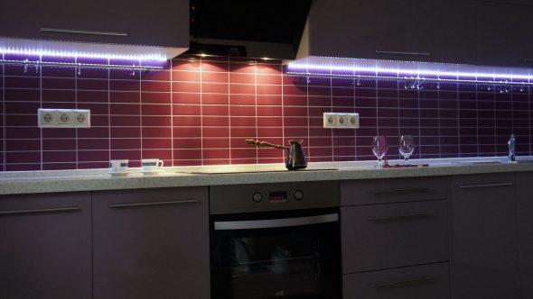 Светодиодная подсветка кухонной мебели