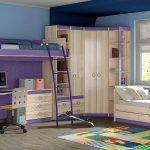 Уютная и продуманная спальня для двоих детей