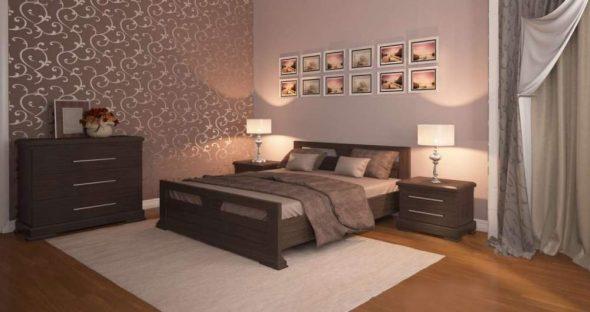 Уютная спальня из дуба