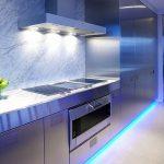 Вариант комбинированного освещения на кухне