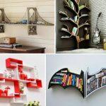 Варианты полок для книг и декора в интерьере