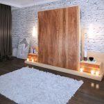 Встроенная кровать для спальни в стиле лофт