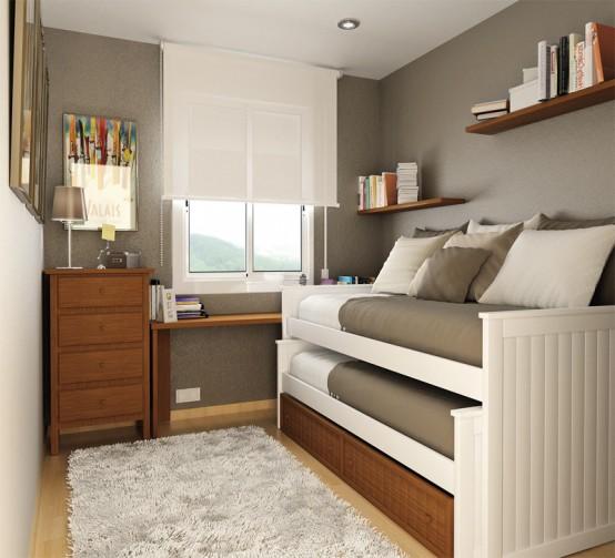Выдвижная кровать для маленькой спальни