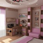 Японская сакура в дизайне спальни для девочки