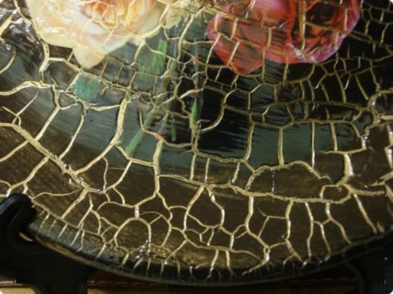 кракелюрный декор столика