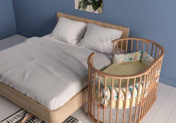 Круглая кроватка для новорожденных