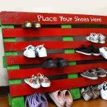старый поддон обувница