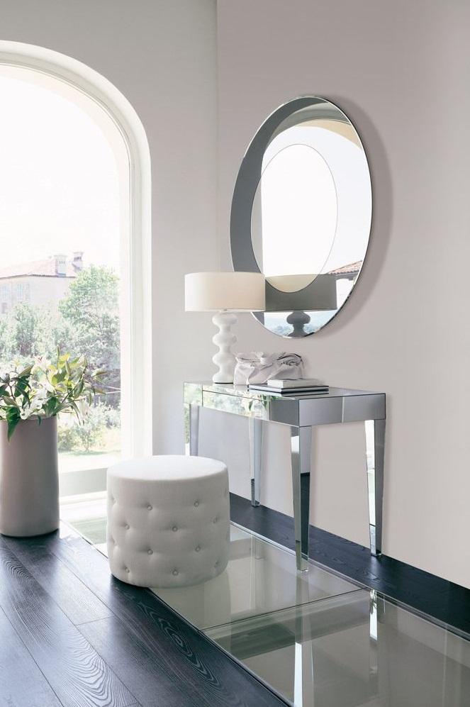 современный столик зеркальный