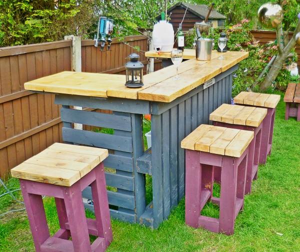 Идеи как сделать стол на даче своими руками