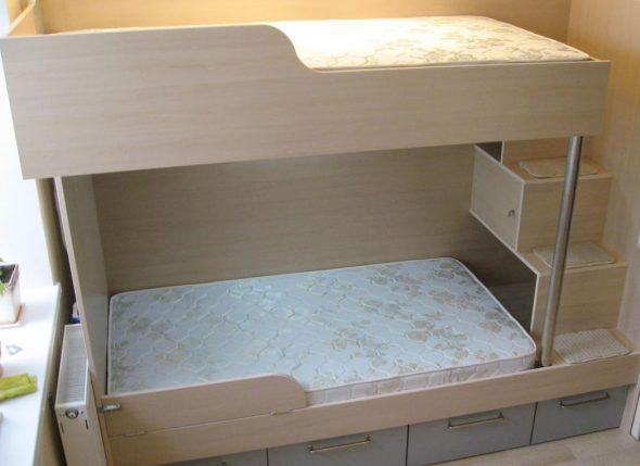 Безопасная и красивая детская двухъярусная кровать