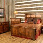 Дачная спальня в стиле рустик