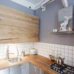 Деревянная кухня, выполненная своими руками