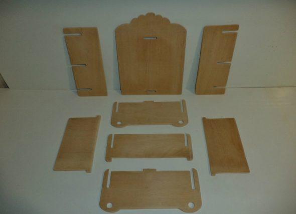 Детали для маленького шкафчика из фанеры