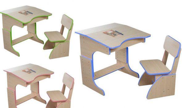 Детская парта и стул для дошкольников