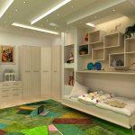 Детская спальня со светлой мебелью