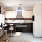 Дизайн кухни в современном стиле хай-тек