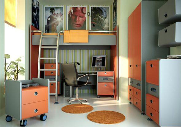 Дизайн необычной комнаты подростка