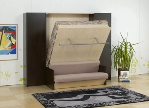Двуспальная кровать-диван в интерьере
