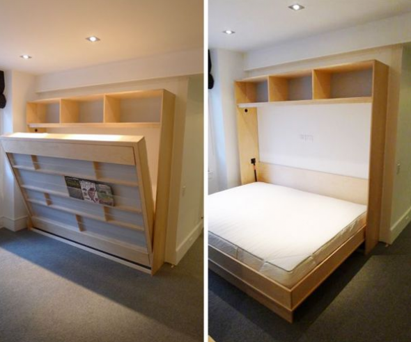 Двуспальная кровать-шкаф