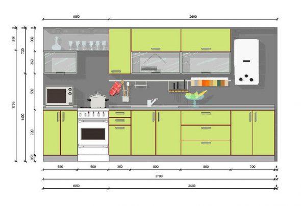 Эскиз кухонной мебели