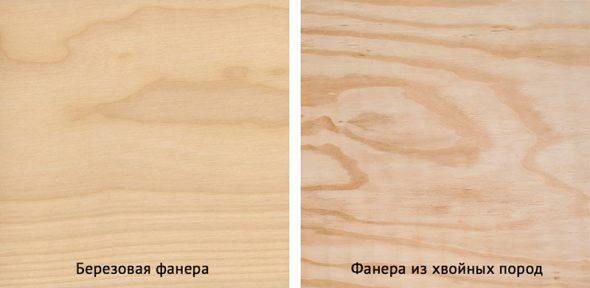 Фанеры из разных пород дерева