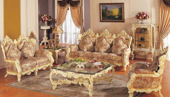 Гостиная в стиле барокко
