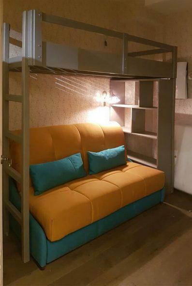 Интересная конструкция кровати-чердак