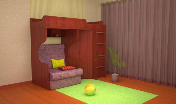 Комплект мебели в комнату для детей