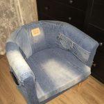 Кресло джинсовый пэчворк