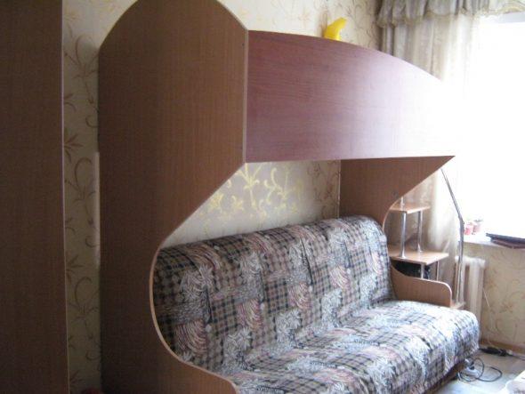 Кровать-чердак для малогабаритной квартиры