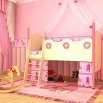 Кровать для принцессы с балдахином