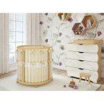 Круглая безопасна кровать в детской