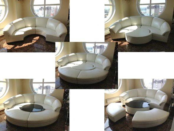 круглый диван кровать в интерьере 75 лучших фото