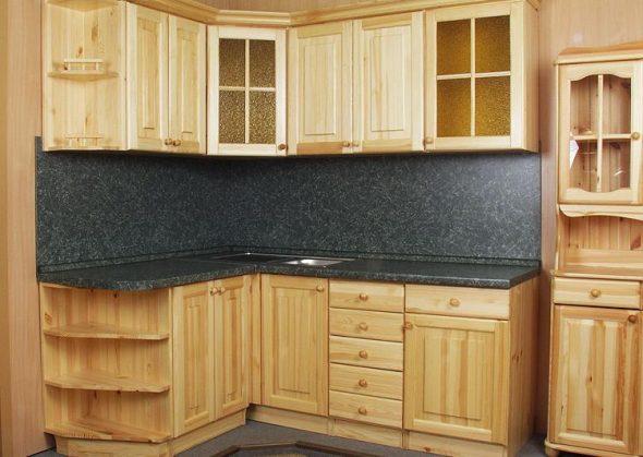 Кухня угловая из дерева своими руками