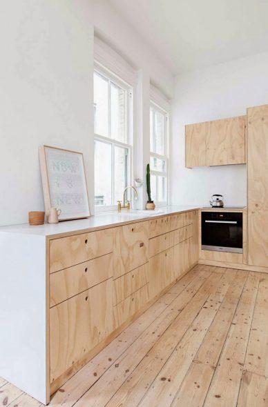 Кухонный гарнитур их фанеры