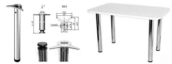 Кухонный стол на покупных ножках