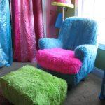 Махровое кресло и пуфик своими руками