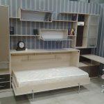 Мебель для подростковой комнаты с откидной кроватью
