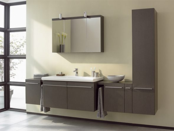 Мебель необычной формы для ванной