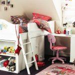 Невысокие кровати-чердаки для маленьких детей