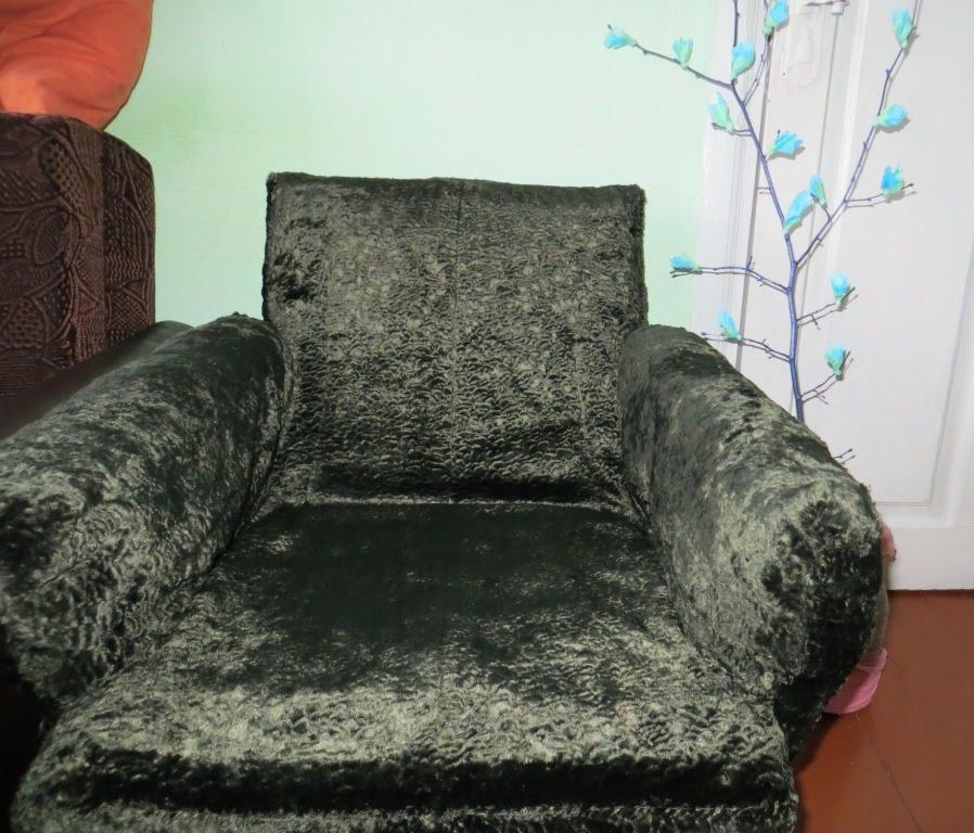 Как перетянуть кресло кровать своими руками 27