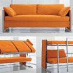 Оранжевый диван-кровать трансформер