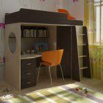 Отличное решение для маленько комнаты - детская кровать-чердак