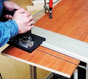 Отрезаем части стола согласно чертежу