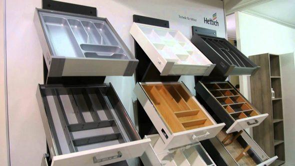 Примеры ящиков с разделителями для столовых приборов