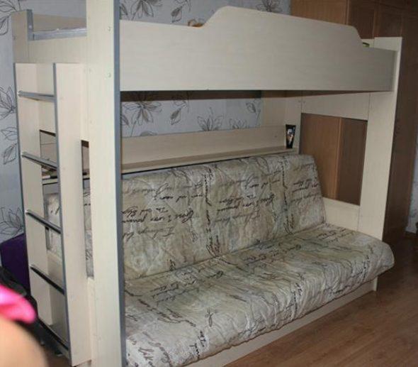 Прочный деревянный каркас для кровати-чердак