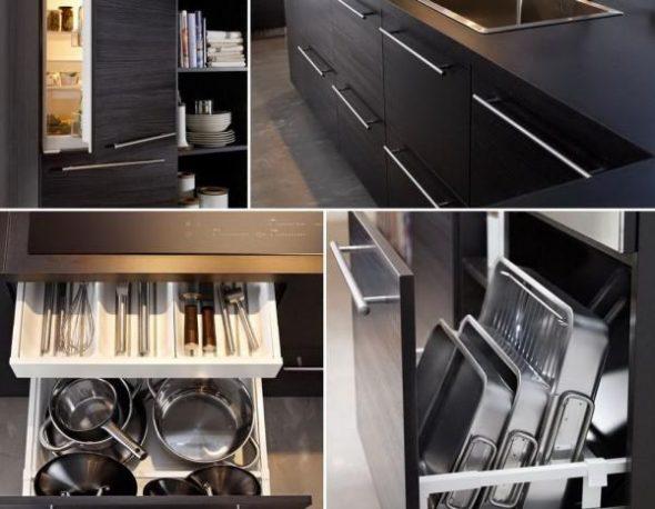 Рациональное использование мебели на кухне