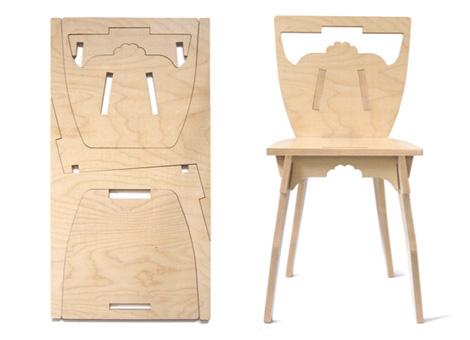 Раскрой стула из фанеры