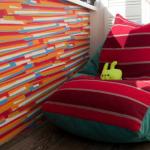 Разноцветное кресло мешок своими руками